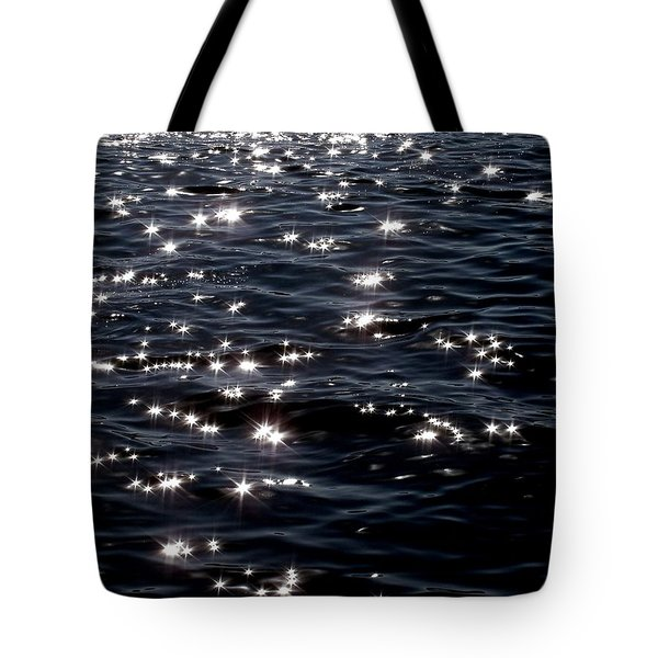 Sparkling Waters At Midnight Tote Bag