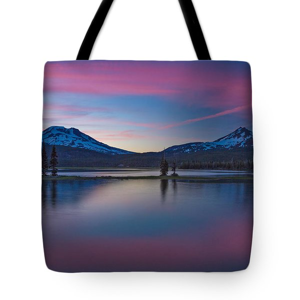Sparks Lake Reflections Tote Bag