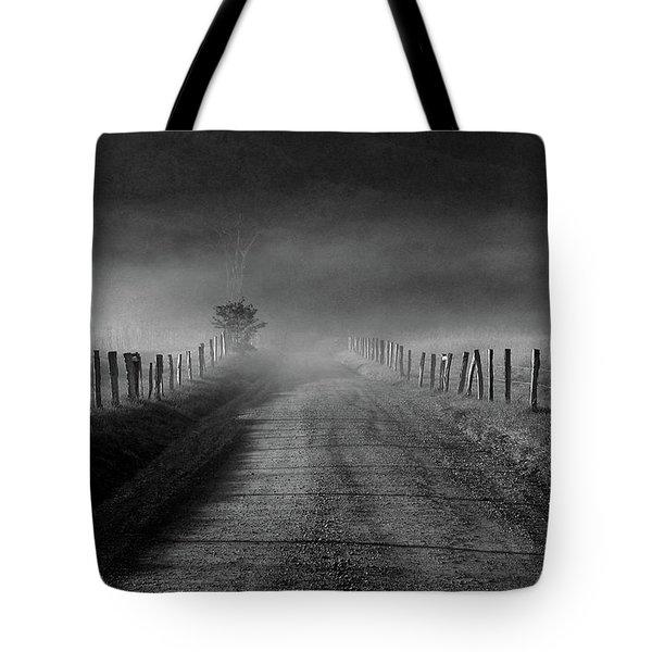 Sparks Lane In Black And White Tote Bag