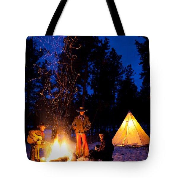 Sparks Of Inspiration Tote Bag by Inge Johnsson