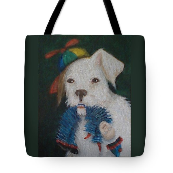 Sparky And Dick Tote Bag by Georgia Griffin