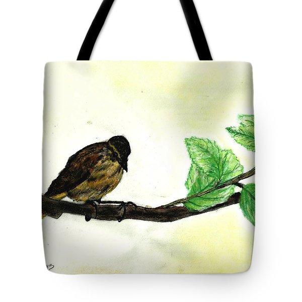 Sparrow On A Branch Tote Bag by Francine Heykoop