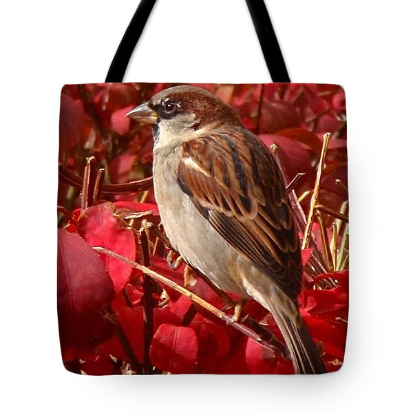 Sparrow Tote Bag by Rona Black