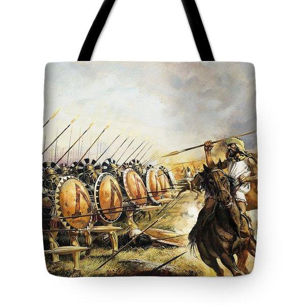 Spartan Army Tote Bag