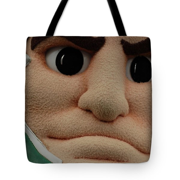 Sparty Face  Tote Bag by John McGraw
