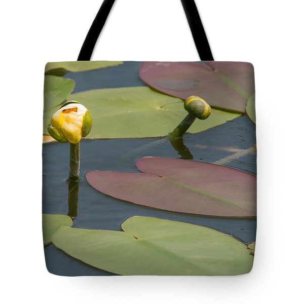 Spatterdock Heart Tote Bag