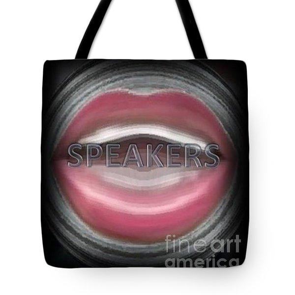 Tote Bag featuring the digital art Speakers by Catherine Lott