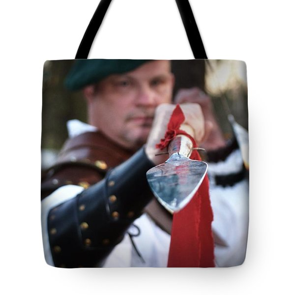 Spear Of The Scot Tote Bag by Tara Potts