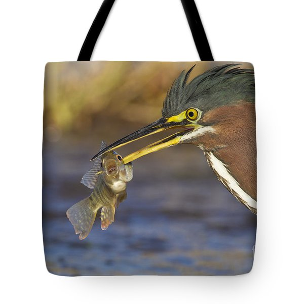 Tote Bag featuring the photograph Speared by Bryan Keil