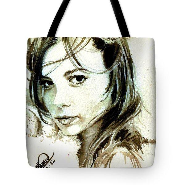 Special Friend Portrait Tote Bag by Alban Dizdari