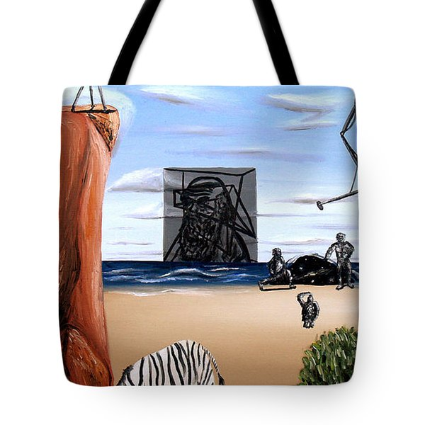 Tote Bag featuring the painting Species Differentiation -darwinian Broadcast- by Ryan Demaree