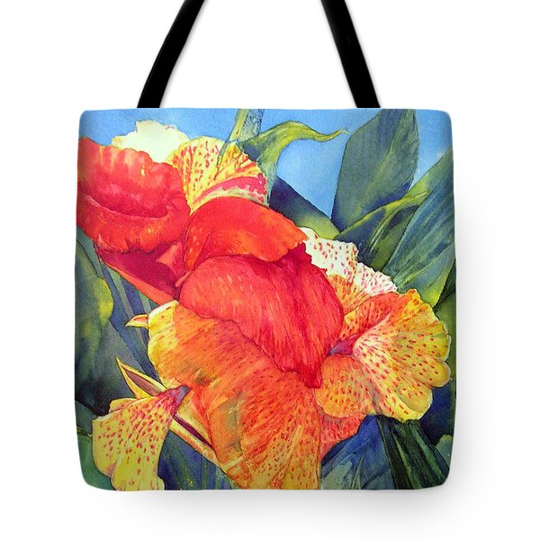 Speckled Canna Tote Bag