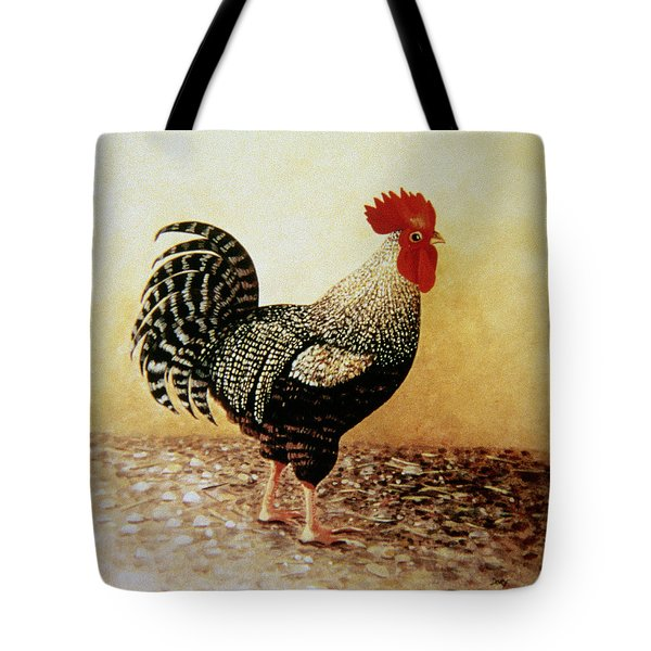 Speckled Rooster  Tote Bag by Dory Coffee
