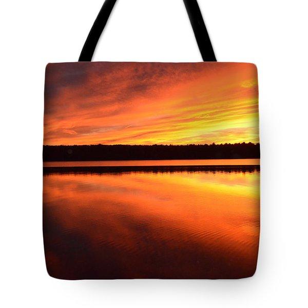 Spectacular Orange Mirror Tote Bag