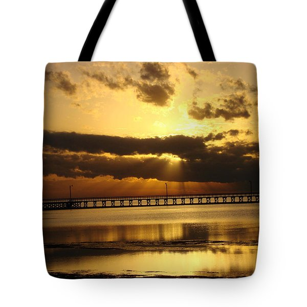 Tote Bag featuring the photograph Spectacular Sunrise Two by Linda Cox