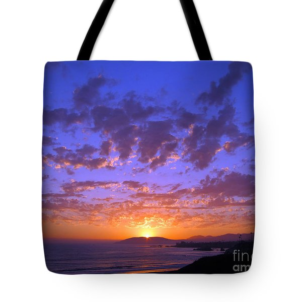 Spectacular Sunset  Tote Bag by Debra Thompson