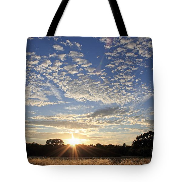 Spectacular Sunset England Tote Bag