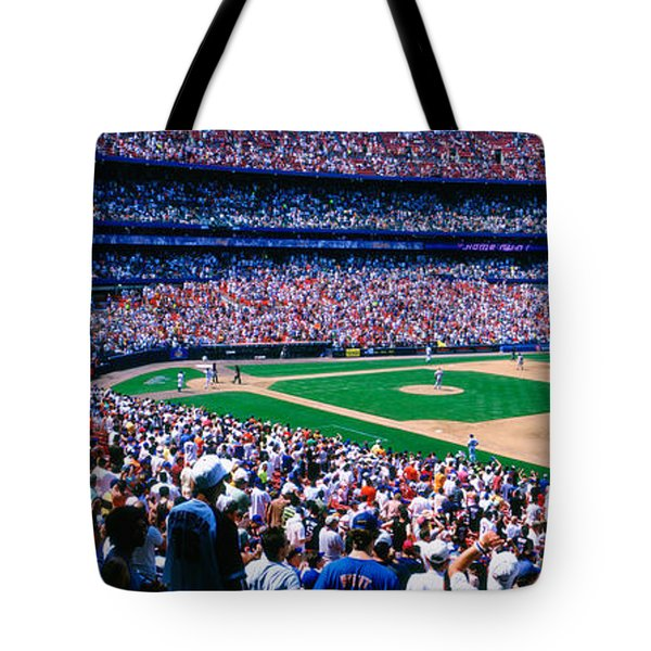 Spectators In A Baseball Stadium, Shea Tote Bag