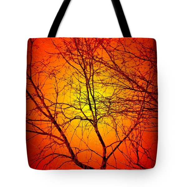 Spectral Sunrise Tote Bag