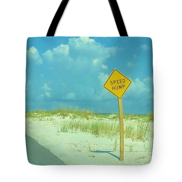 Speed Hump Tote Bag by Deborah Lacoste