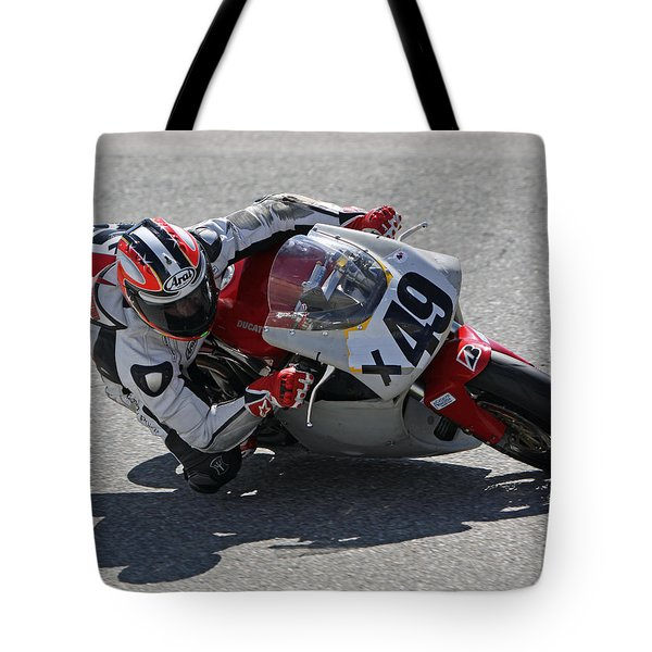 Tote Bag featuring the pyrography Speed In The Corner by Shoal Hollingsworth