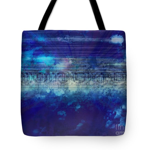 Speed Of Thought Tote Bag by Bedros Awak