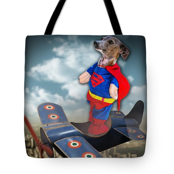 Tote Bag featuring the digital art Speedolini Flying High by Kathy Tarochione
