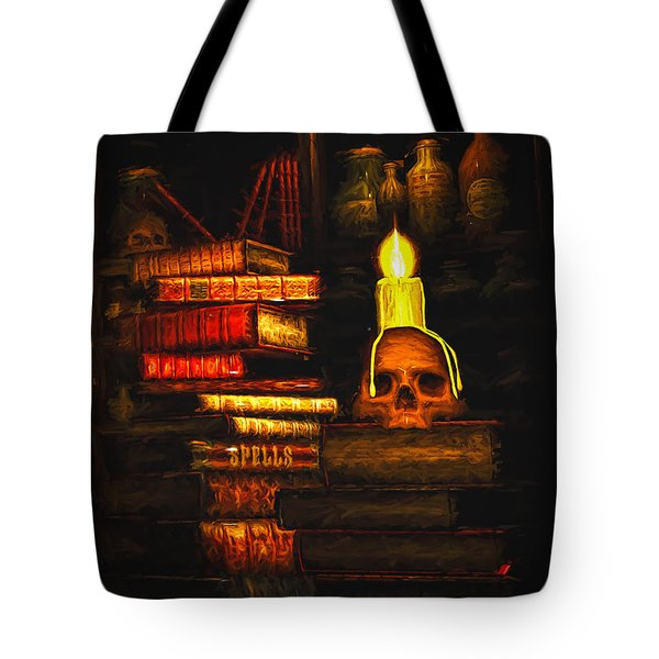 Tote Bag featuring the painting Spells by Bob Orsillo