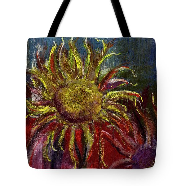 Spent Sunflower Tote Bag by David Patterson