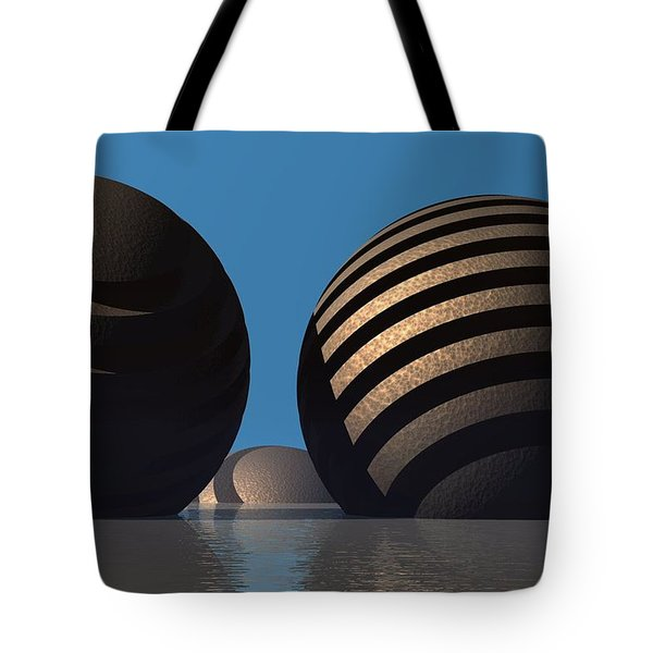 Spheres Tote Bag by Lyle Hatch