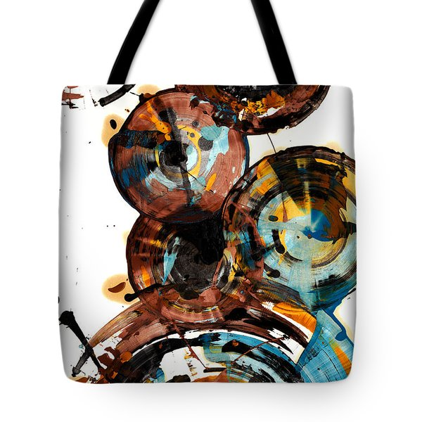Tote Bag featuring the painting Spherical Happiness Series - 993.042212 by Kris Haas