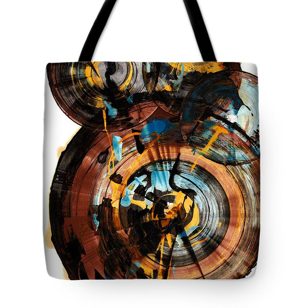 Tote Bag featuring the painting Spherical Happiness Series - 994.042212 by Kris Haas