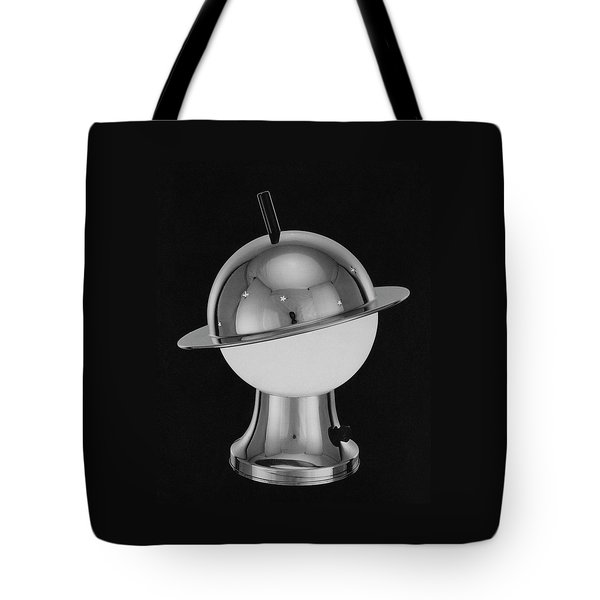 Spherical Lamp With Chromium Base Tote Bag