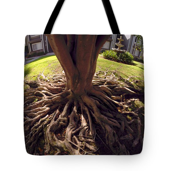 Tote Bag featuring the photograph Spherical Rooting by Clayton Bruster