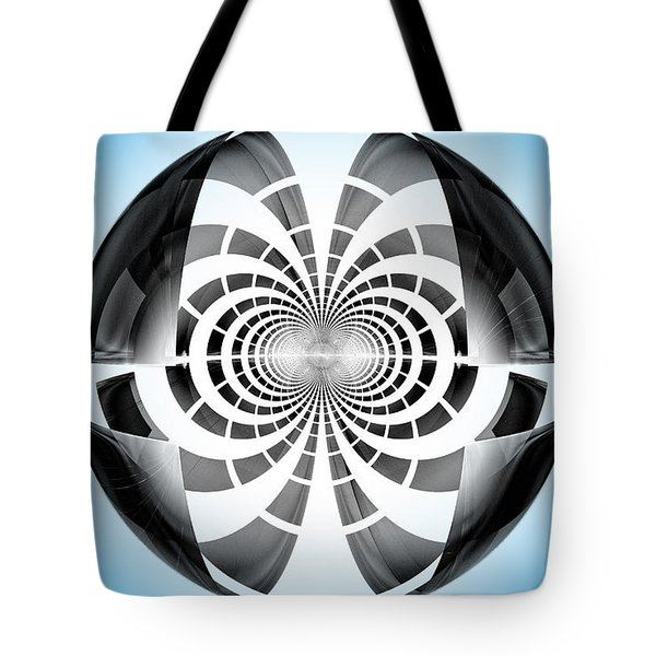Tote Bag featuring the digital art Spheroid by GJ Blackman