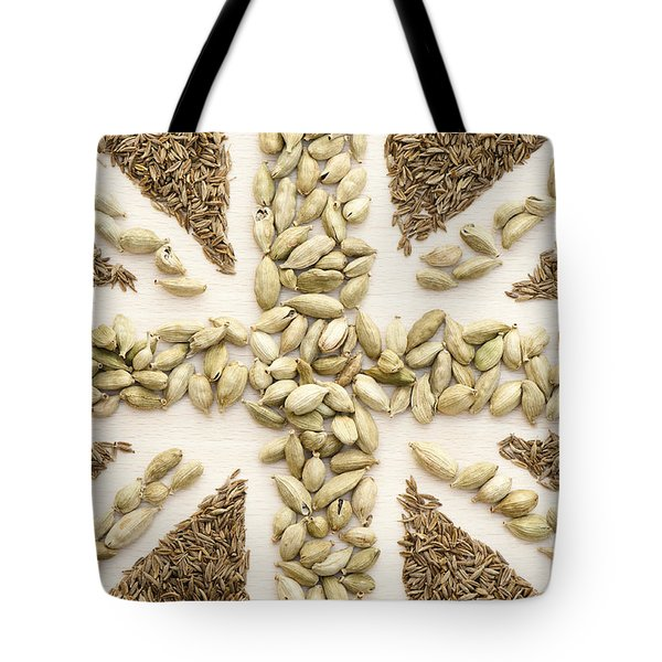 Spice Flag Tote Bag by Anne Gilbert