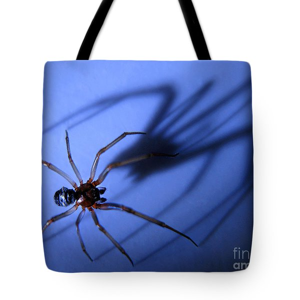 Spider Blue Tote Bag