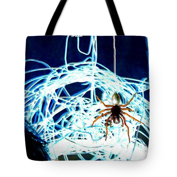 Tote Bag featuring the digital art Spider by Daniel Janda