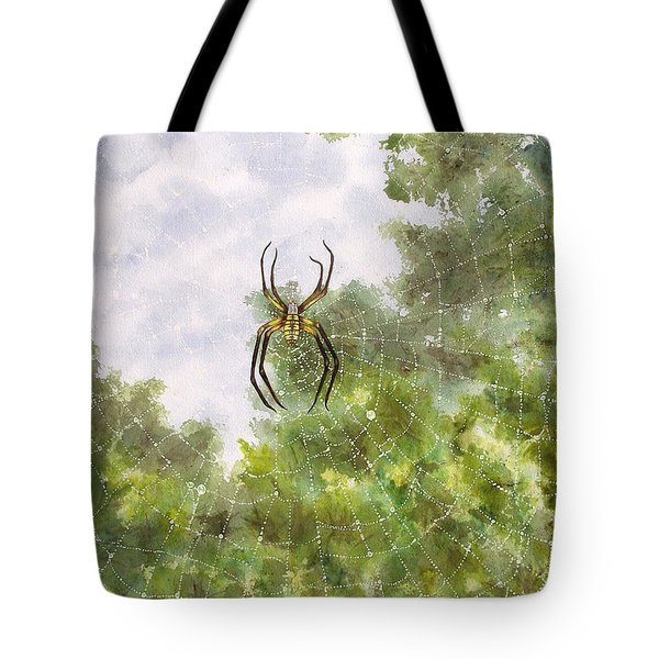 Spider In Web #2 Tote Bag