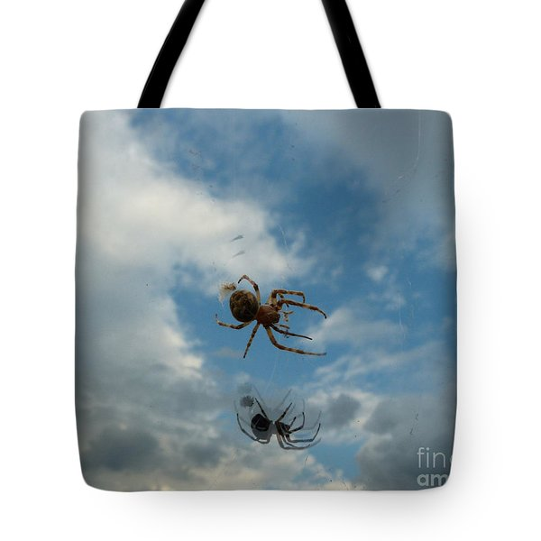 Tote Bag featuring the photograph Spider by Jane Ford