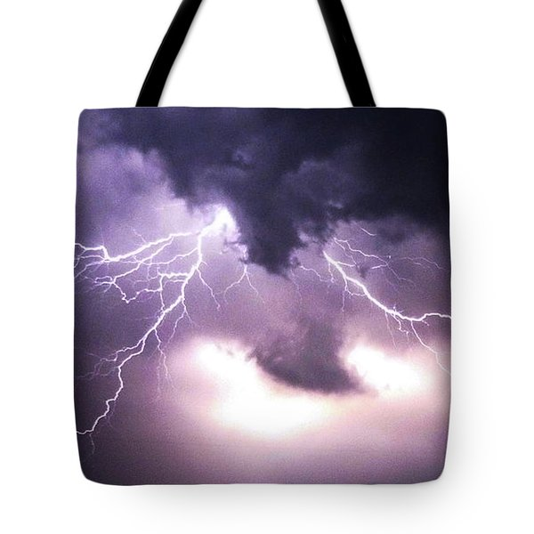 Spider Lightening Tote Bag by Angela Wright