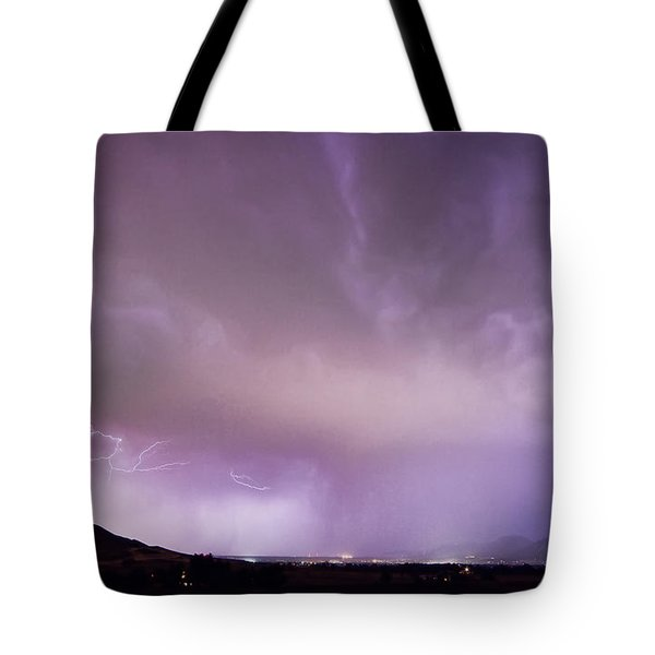 Spider Lightning Above Haystack Boulder Colorado Tote Bag by James BO  Insogna