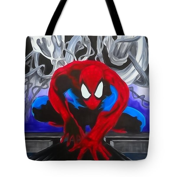 Spider-man Watercolor Tote Bag
