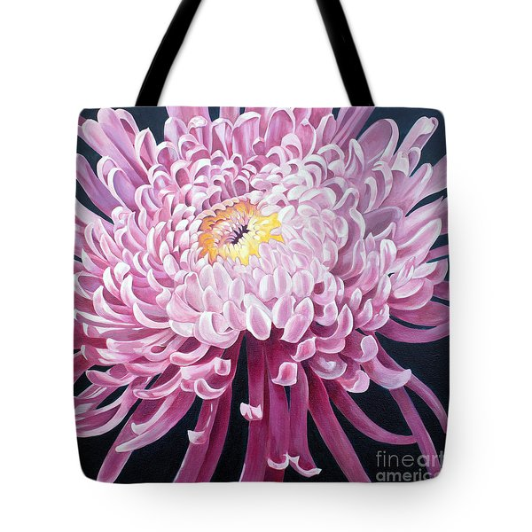 Tote Bag featuring the painting Spider Mum by Debbie Hart
