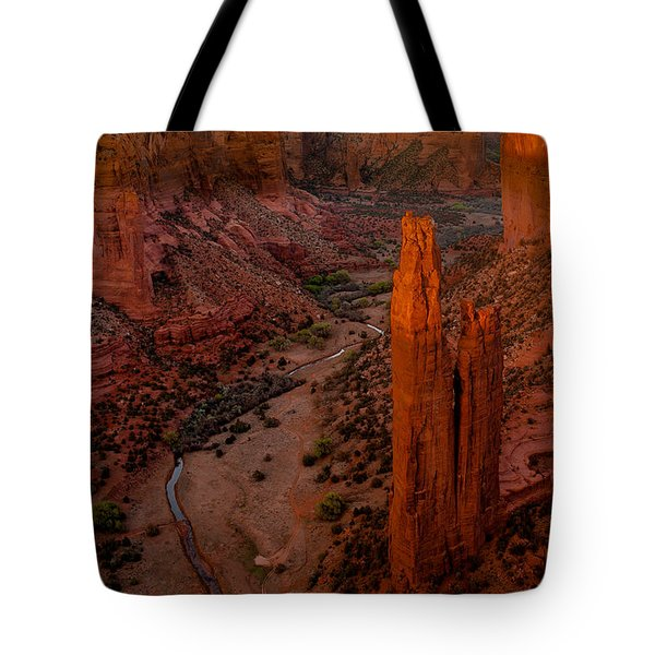 Spider Rock Sunset Tote Bag by Tim Bryan