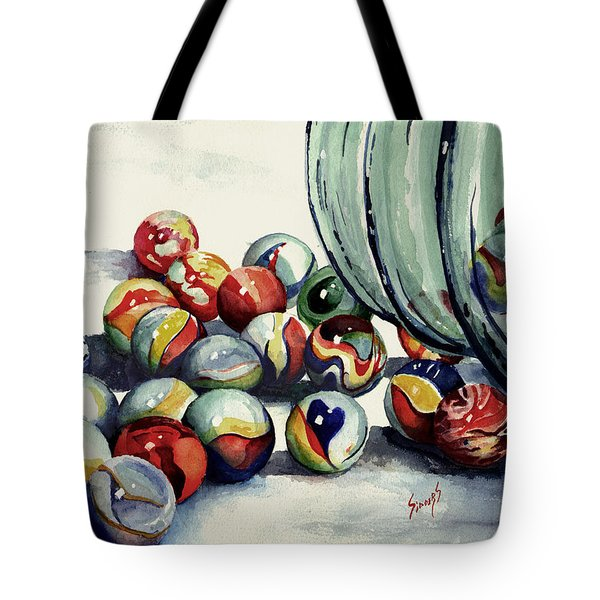 Spilled Marbles Tote Bag by Sam Sidders