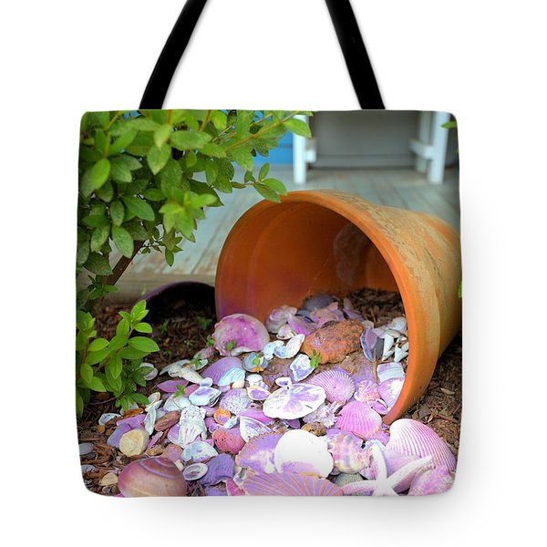 Tote Bag featuring the photograph Spilled Shels by Gordon Elwell