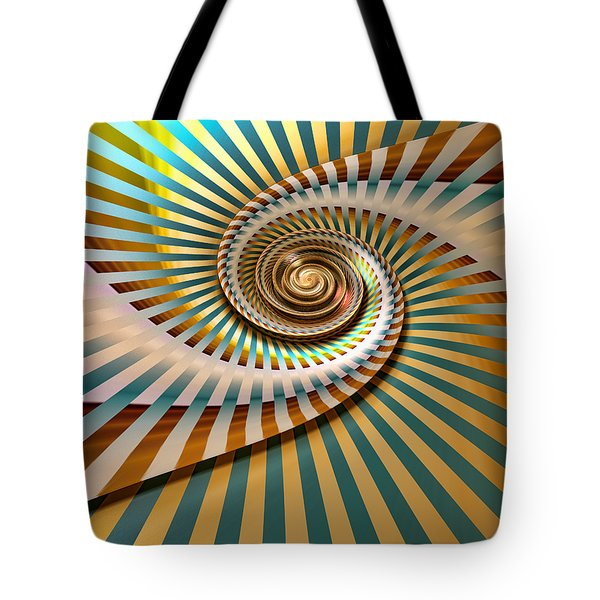 Tote Bag featuring the digital art Spin by Manny Lorenzo