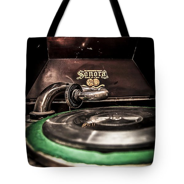 Spin That Record Tote Bag by Darcy Michaelchuk