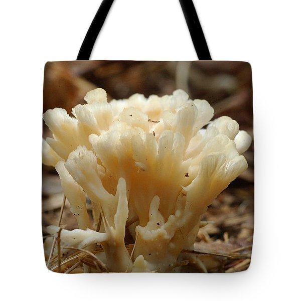 Spindle Mushroom Tote Bag by Susan Leavines